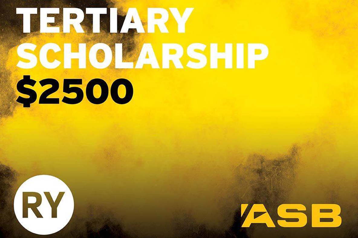 ASB and RY Tertiary Scholarship 2019 Recipient Announced